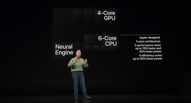 Der neue Chip A12 Bionic. (Source: Screenshot apple.com)